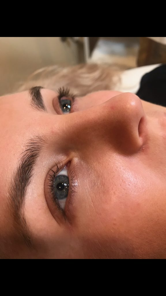 After Photo Lash Lift by Haley Bier